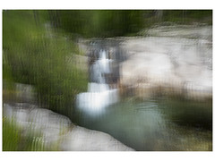 Waterfall at Gorges d`Heric (Greymark) Tags: blur france languedoc rivers waterfalls gorgesdheric intentionalcameramovement icm abstract landscape