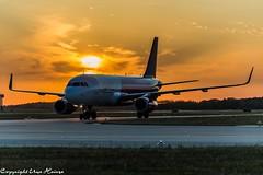 Wizz Air Sunrise at HAJ 26072019 (U. Heinze) Tags: sunrise sonnenuntergang haj hannoverlangenhagenairporthaj aircraft airlines airways airplane sky himmel eddv
