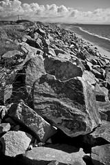 Pwllheli Beach (I M Roberts) Tags: pwllheli beachscene gwynedd northwales fujix100s bw