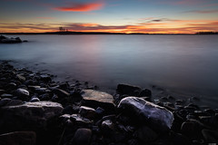 Frosted shore (Rico the noob) Tags: dof rock d850 landscape sunset 20mm water outdoor lake stones clouds longexposure beach published tree travel forest trees rocks sky horizon 2018 20mmf18 finland nature