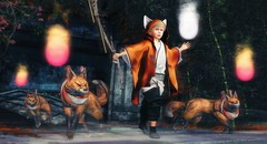 If your actions inspire others to dream more, learn more, do more and become more, you are a leader. (Skippy Beresford) Tags: boy child children childhood kid kids shepherd flock foxes kitsune kitsunebi spirit character determination guidance guardian leader leadership community light love inspiration dream learn become