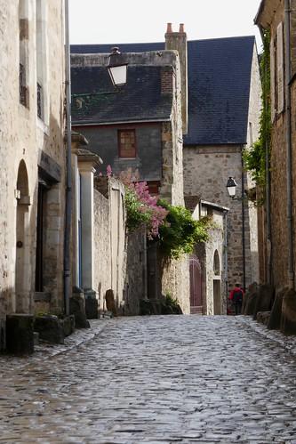 Rue des Chanoines, cité Plantagenêt, Le Mans, Sarthe, Pays de la Loire, France.