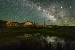 Milky Way Reflection in Bodie Grass (Jeff Sullivan (www.JeffSullivanPhotography.com)) Tags: state historic park sunset weather bodiestatehistoricpark abandoned american wild west mining ghost town monocounty bridgeport california usa landscape nature night photography travel nikon 850d nikkor 1424mmf28 lens photo copyright 2019 jeffsullivan june allrightsreserved milky way reflection bodie nikonnofilter