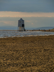 Fishing for Gold (RS400) Tags: burnhamonsea water sea light house sand wow amazing southwest olympus uk landscape sky clouds outside photography high tide
