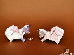Origami Spitz Nains Barth Dunkan. (Magic Fingaz) Tags: anjing barthdunkan chien chó dog hond hund köpek origami paperfolding perro pies пас пес собака หมา 개 犬 狗 mfpp ecorigami origamidog