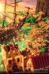 Throwback Thursday: Pirates! (Agaethon) Tags: lego afol legography brickography legophotography minifig minifigs minifigure minifigures toy toyphotography legopirates macro cinematic pirates sunset island zombie boat ship blocksmagazine