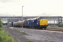 37605 Ineos Runcorn 28th June 2002 (John Eyres) Tags: 37605 seen ineos caustic loading siding folly lane branch having arrived with 6f20 0828 sellafield tanks 280602