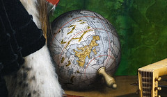 Holbein, The Ambassadors, detail with globe