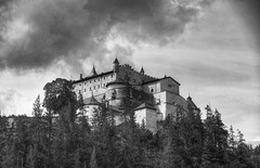Hohenwerfen (mokastet) Tags: mokastet hohenwerfen castle hohenwerfencastle blackandwhite noiretblanc blackwhite austria burg burghohenwerfen werfen whereeaglesdare