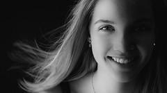 DSCF9152-4 (YouOnFoto) Tags: girl meisje woman vrouw portret porrait zwart wit black white intens eyes ogen blauw blue mouth mond blond blonde fujifilm xt20 systeemcamera bestportraitsaoi