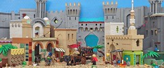 Entering Aquila (W. Navarre) Tags: lego navarre scene all tower city middle eastern