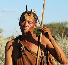 Portrait of Bushman - Central Kalahari - Botswana (lotusblancphotography) Tags: africa afrique kalahari botswana travel voyage people personnes bushmen portrait