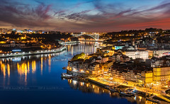 _DS21020 - Porto blue hour (AlexDROP) Tags: travel bridge sky color art portugal water skyline architecture clouds river europe cityscape postcard famous best porto bluehour picturesque iconic mustsee 2019 nikond750