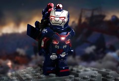 Iron Patriot (-Metarix-) Tags: lego super hero minifig marvel iron patriot war machine avengers endgame james rhodes custom minifigure mcu cinematicuniverse
