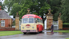 Leaving the Hall (Duck 1966) Tags: ntu125 foden coach warwickshire timelineevents rain village
