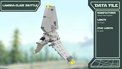 Star Wars Fleet Data Files (2bricks_official) Tags: lego moc star wars legostarwars ships models 2bricks mini micro lambda class shuttle