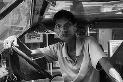 Jeepney Driver (Beegee49) Tags: street people man driver transport public blackandwhite monochrome bw sony a6000 bacolod city philippines asia happyplanet asiafavorites
