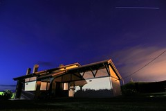 ISS light trail // Estela de la EEI (aitorlourido1) Tags: iss trail flare eei estaciónespacialinternacional internationalspacestation nocturna astrofotografía fotografíanocturna cantabria