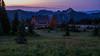 Cabin in Blue (writing with light 2422 (Not Pro)) Tags: sunrisedaylodge dawn sunrise washingtonstate lodge cabin mountain range mountrainiernationalpark mrnp bluehour thepurplehour meadow flowers summer richborder rich border landscape sonya7riii