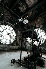 The Clock Tower (rantropolis) Tags: abandonedfactory abandoned clock tower playing card factory urbex urbanexploration nikon d750 15mm