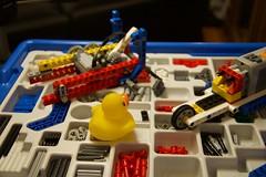 Duck 180 of 365 (don_espe) Tags: 365 365day car duck duckie ducky gears lego rubberduck rubberducky