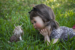 I can keep all your secrets for you (Dolly Adventures in the Galland Household) Tags: saffi doll custom collectibles childhood cute bjd girl ball jointed dollartistry dollphotography outdoor garden larry snail dollchateau collectors friends