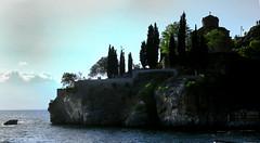 Saint John Church at Kaneo , Lake Ohrid , Macedonia (singingdaisy) Tags: saint john church ohrid lake macedonia kaneo