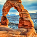 Looking through the delicate arch