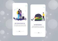 Travel App Onboarding #2 (mashok3) Tags: app design clean creative exploration find hotel resturent traveler full apps booking illustrations ios onboarding screen travel trend 2019 ui