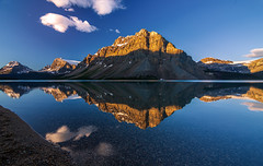 Bow Lake Morning Reflections (Cole Chase Photography) Tags: banff alberta canada icefieldsparkway sunrise canadianrockies