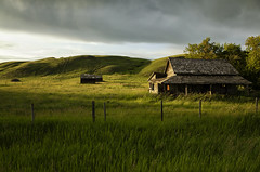 Perfect Prairie Porch (Rob McKay Photography) Tags: landscape photography badlands abandoned homestead prairies oldhouse house sky storm fields scenic sunset sunrise