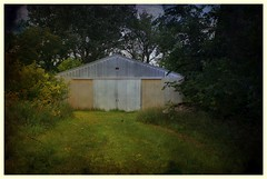 Machine Shed (Dave Linscheid) Tags: building farm rural country agriculture path texture textured butterfield watonwancountymnminnesotausasmart photo editor