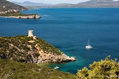 Deep in blu... (giobertaskin) Tags: torre sea mare blusea blu sardinia sardegna algher alguer alghero portoconte canon canoneos
