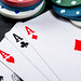 Combination of four aces close up