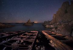 _DSC5675 (fjsmalaga) Tags: ngc almeria cabo gata mar nocturna estrella noche nikon d750 vias tren rocas rocallas