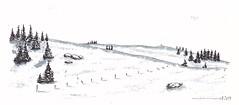 Paysage d'Aubrac. (J-M.I) Tags: aquarelle art house architecture haute watercolour aveyron 12 dessin illustration graphisme aubrac vines artiste exposition crayons encre