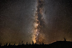 Colorado Night (somewheredowntheroadphoto) Tags: milkyway night shadow trees distant stars nightime ridge outdoors outside country colorado