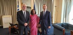 Συνάντηση Υφυπουργού Εξωτερικών για την Οικονομική Διπλωματία και την Εξωστρέφεια, Κώστα Φραγκογιάννη, με την Πρέσβυ της Ινδίας Shamma Jain (Αθήνα, 01.08.2019) (Υπουργείο Εξωτερικών) Tags: υφυπεξ φραγκογιαννησ shammajain mfa