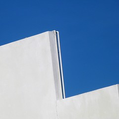 a cut above the rest (msdonnalee) Tags: architecturaldetail rooftop sky méxico mexique mexiko messico abstract abstractreality geometry geometrie minimalism graphicarchitecture