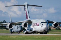 Qatari Couple (Chris Gilligan) Tags: qatari qatar emiri air force c 17 130 hercules globemaster rnas yeovilton airday 2019 somerset airshow couple nikon d7000