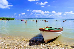 I 💖 Balaton! 😊🐞🌴🌻 Happy August everyone! (Ibolya Mester) Tags: hungary magyar magyarország balaton lake beach boat summer sky blue clouds balatonlake canon canoneos600d color colors gyenesdiás outdoor europe europa