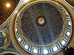 Rome, St. Peter, dome (Vid Pogacnik) Tags: italia italy rome stpeter cathedral basilica church dome interior