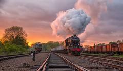 48624 Sunset (photofitzp) Tags: 48624 8f gcr lms minerals photocharter railways smoke stanier steam sunset swithlandsidings timelinephotocharters windcutters
