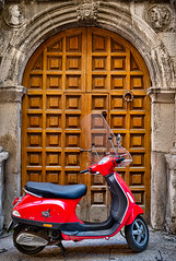 The doors of Bari (Leaning Ladder) Tags: bari italy italia puglia apulia doors arch architecture motorcycle red hdr canon 7dmkii leaning ladder leaningladder 7d mkii