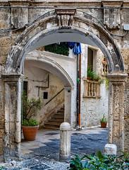 The streets of Bari (Leaning Ladder) Tags: bari italy italia puglia apulia architecture arch canon 7dmkii leaning ladder leaningladder 7d mkii