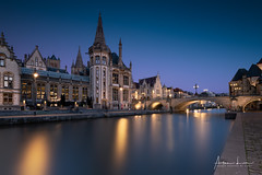 Ghent Blue Hour V (Alec Lux) Tags: graslei architecture belgie belgium blue bluehour building buildings canal city cityscape exterior facade gent ghent golden goldenhour haida haidafilters lights longexposure outdoor outside reflection skyline urban water