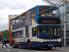 Stagecoach TransBus Trident (TransBus ALX400) 18152 PX04 DPF (Alex S. Transport Photography) Tags: bus outdoor road vehicle alx400 alexanderalx400 dennistrident trident transbustrident transbusalx400 stagecoach stagecoachmidlandred stagecoachmidlands route1 18152 px04dpf