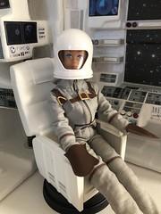 Midge in flight (Foxy Belle) Tags: doll barbie space ship uniform miss astronaut vintage playscale ooak scene 16 helmet spacecraft travel outerspace work fashion queen midge