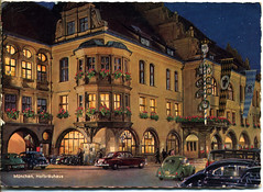 HOFBRAUHAUS also a brewery in Munich Germany (hbk1955) Tags: postcards vintage