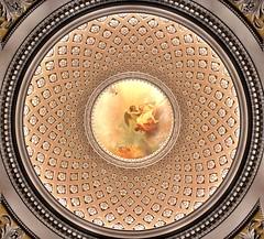 The ceiling painting of the Nikolai Church at Leipzig (ANBerlin) Tags: engel angel kreis rund circle round architektur architecture bauwerk building malerei painting ausergewöhnlich extraordinary struktur structure sight sehenswürdigkeit pointofinterest pov symmetrie symmetrical symmetry stadtansichten stadtleben städtisch stadt cityscape citylife urban city johannsebastianbach martinluther alt old historisch historical strasenfotografie streetphotography sakral sakralbauten sacralbuilding sacral deckengemälde ceilingpainting nikolaikirche kirche church altstadt oldtown deutschland germany sachsen saxony leipzig anb030 shotoniphone iphotography iphonography 8plus iphone8 iphone apple